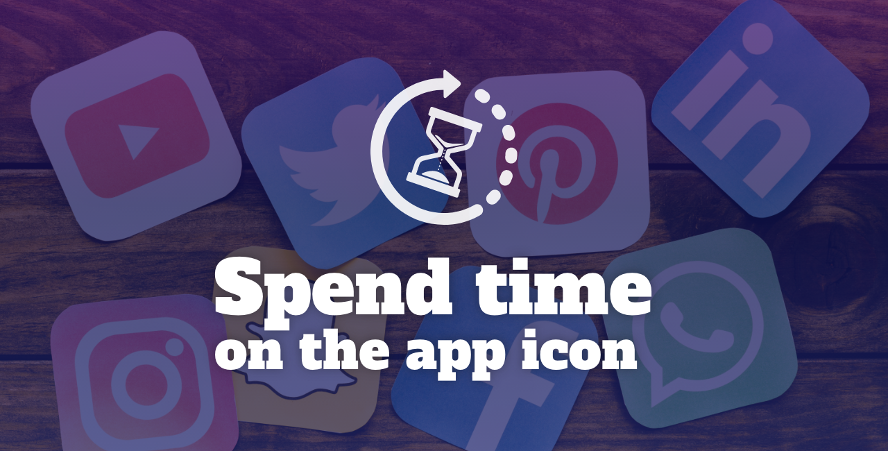 Spend time on the app icon
