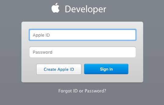 """Next, click on the """"Create Apple ID"""" button"""