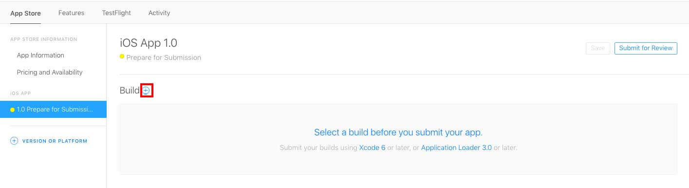 1.0 Prepare for Submission Now build