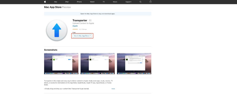 View in Mac App Store