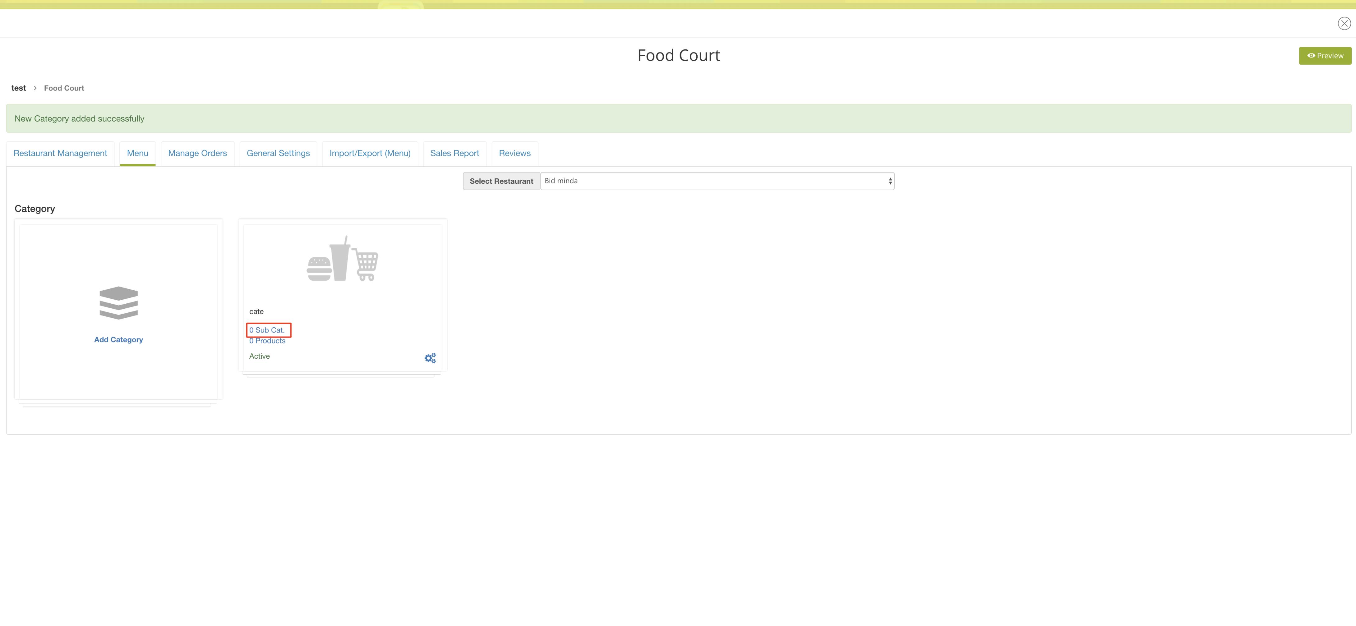 Food Court App