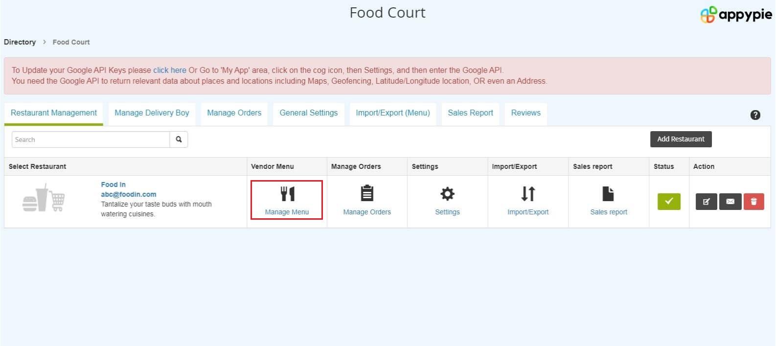 Restaurant App Software