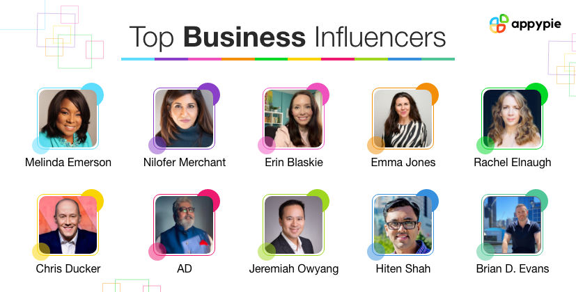 Top Business Influencers - Appy Pie