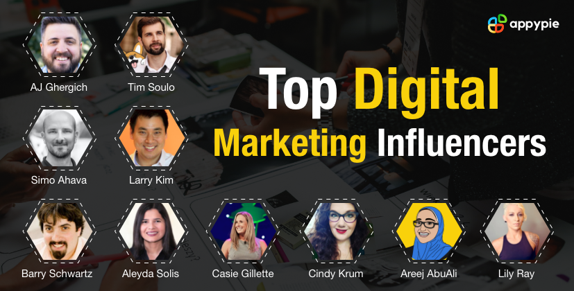 Top Digital Marketing Influencers - Appy Pie