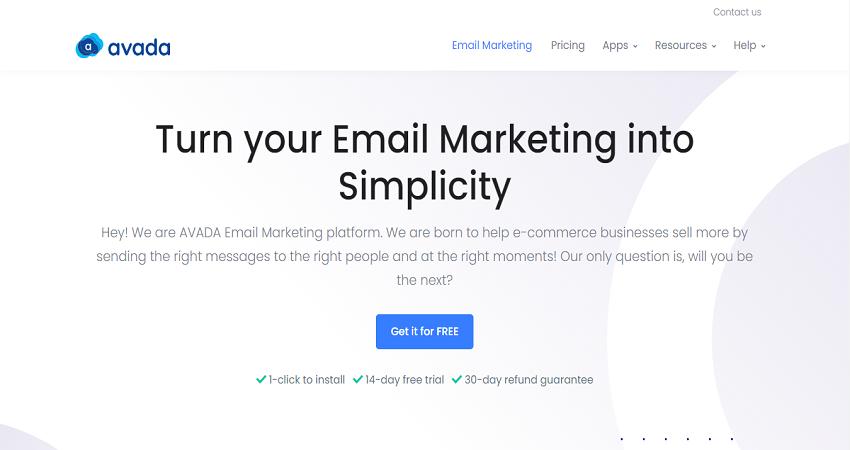 AVADA Email Marketing - Appy Pie