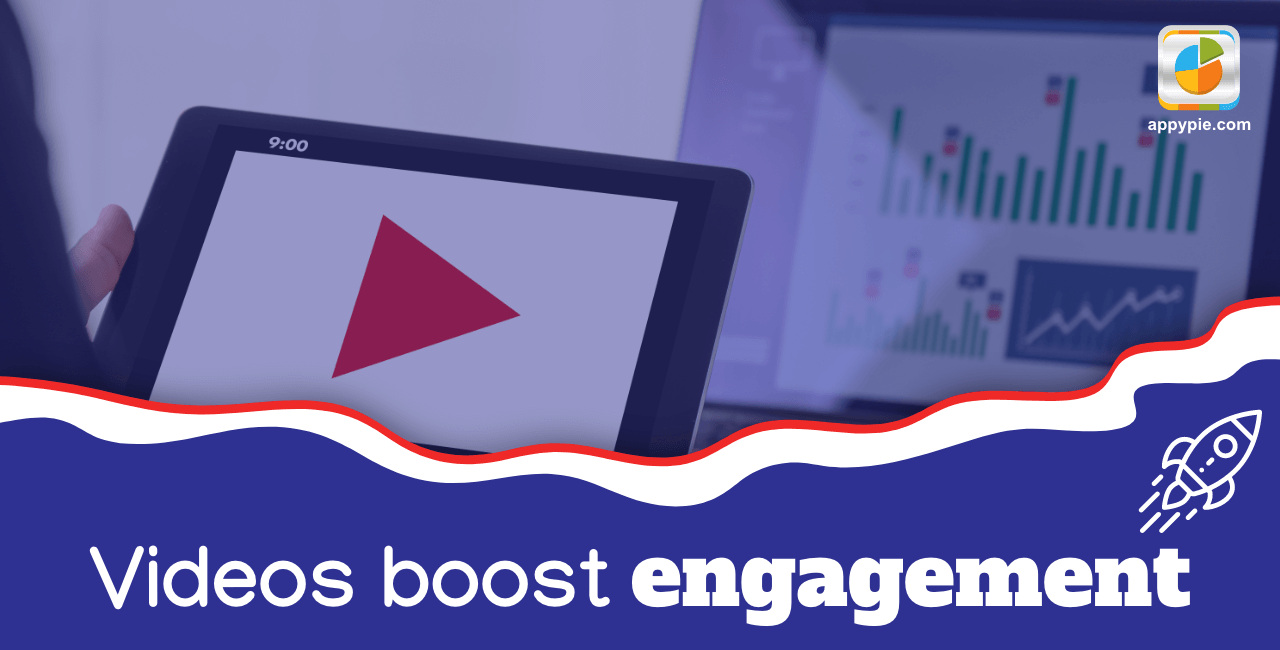 Videos boost engagement