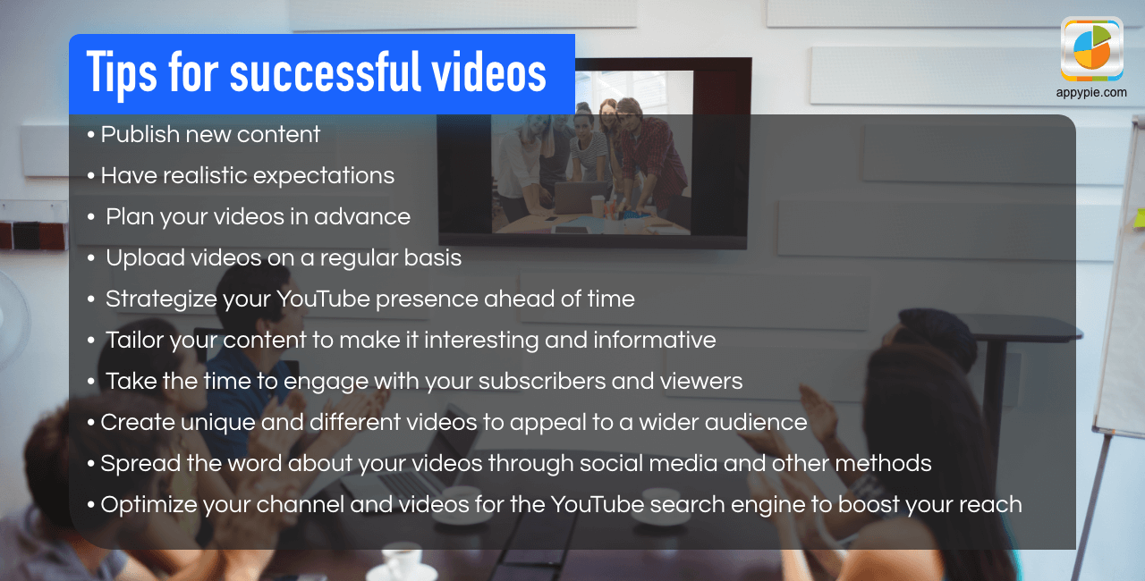 Tips for successful videos