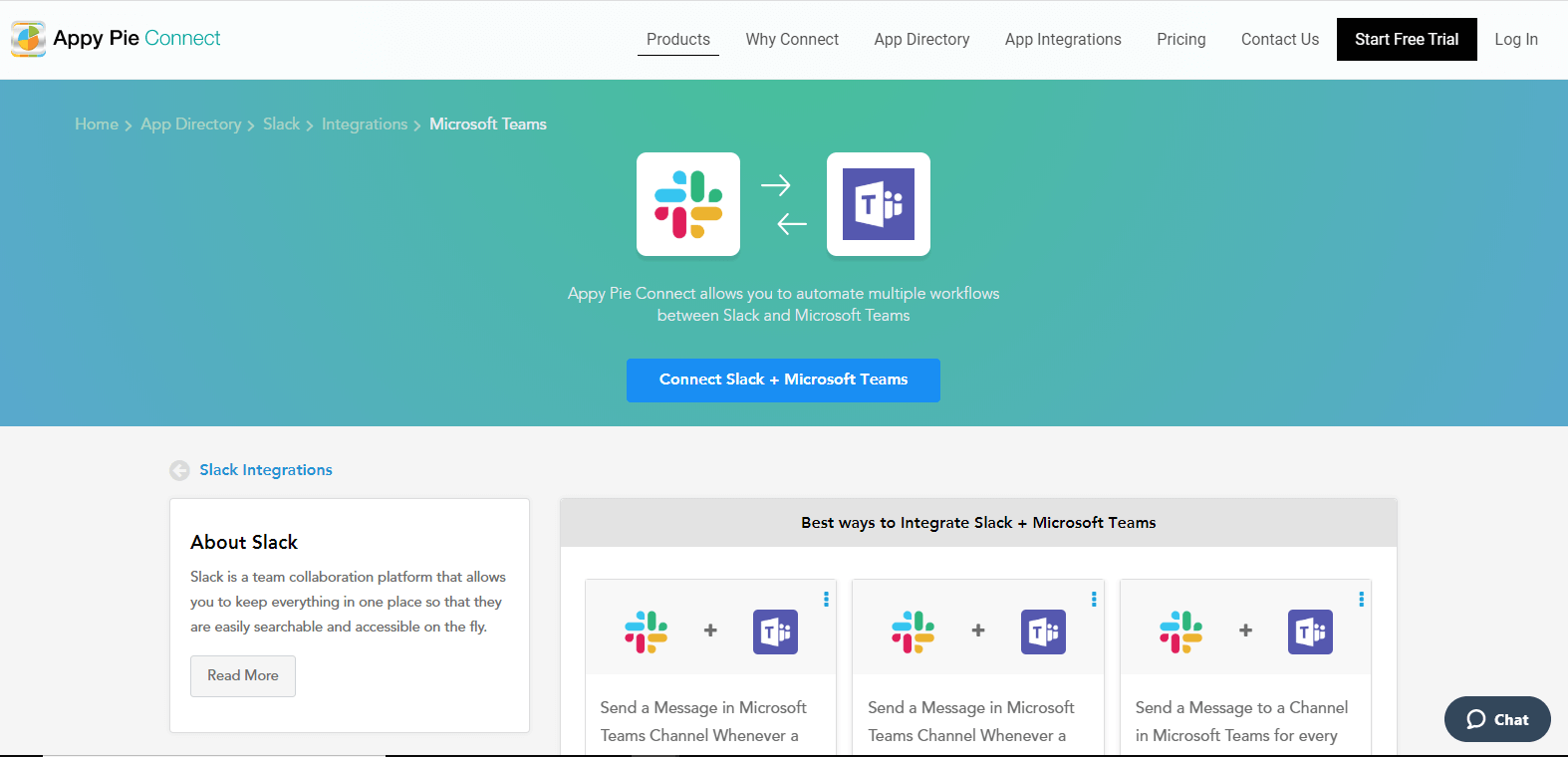 Integrate Connect slack and microsoft teams using Appy Pie