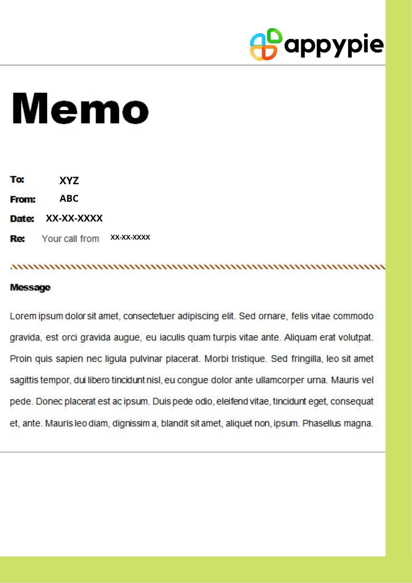How To Write A Memo - Appy Pie