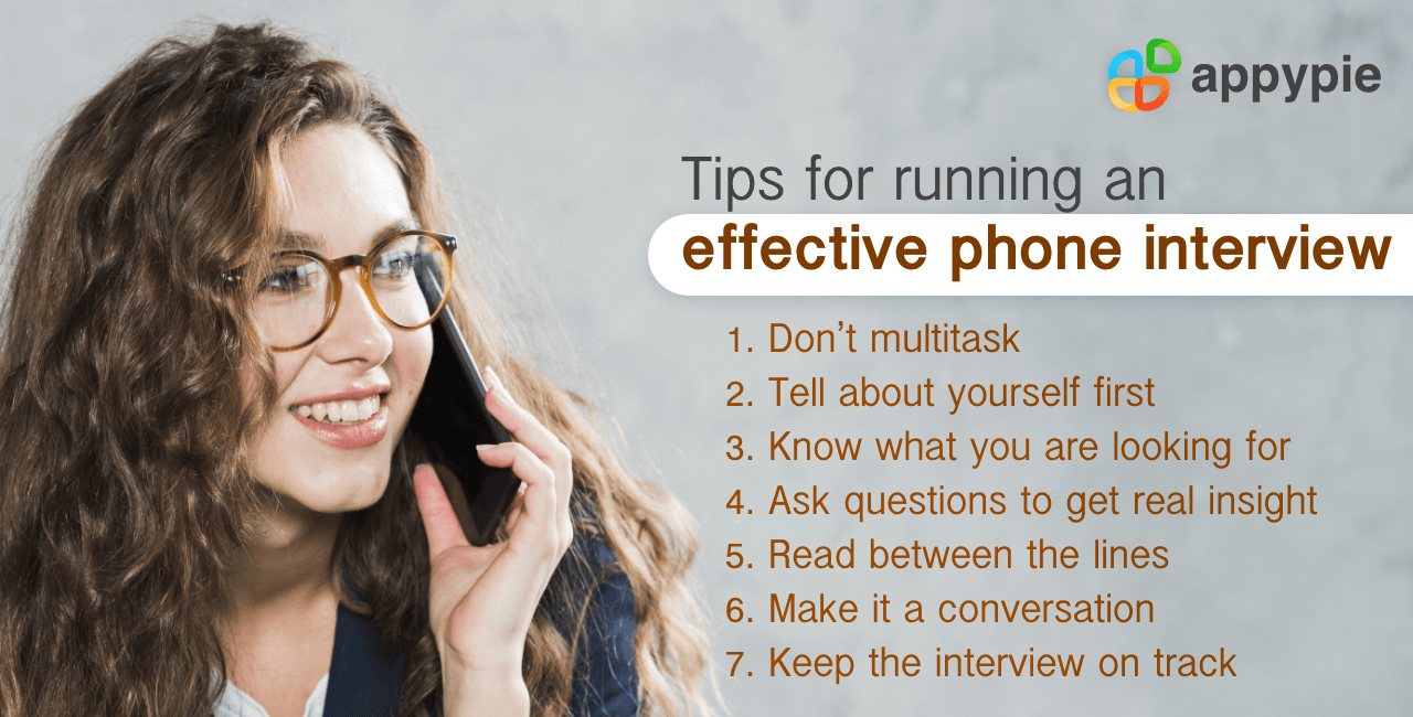 Tips for running effective phone interview - Appy Pie