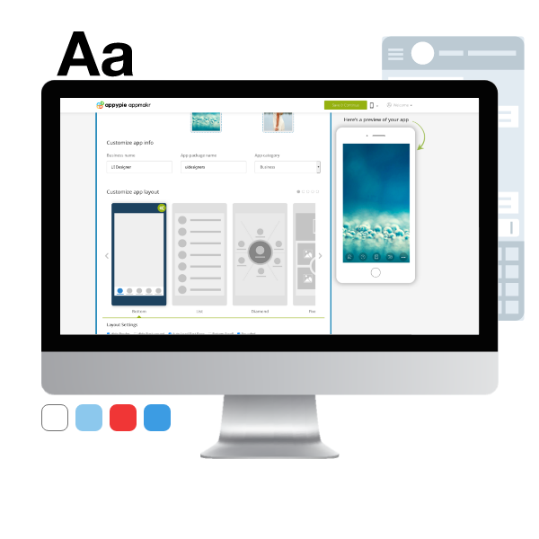 Customize your app design