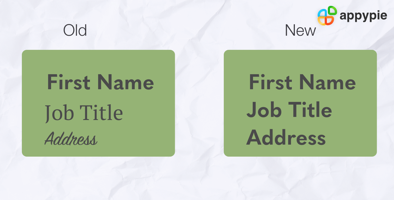 Using Many Fonts - Appy Pie