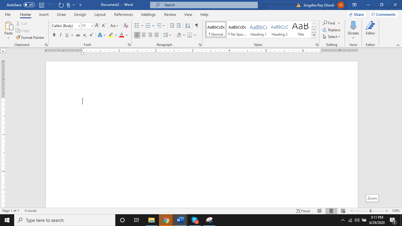 Open a new Word document - Appy Pie
