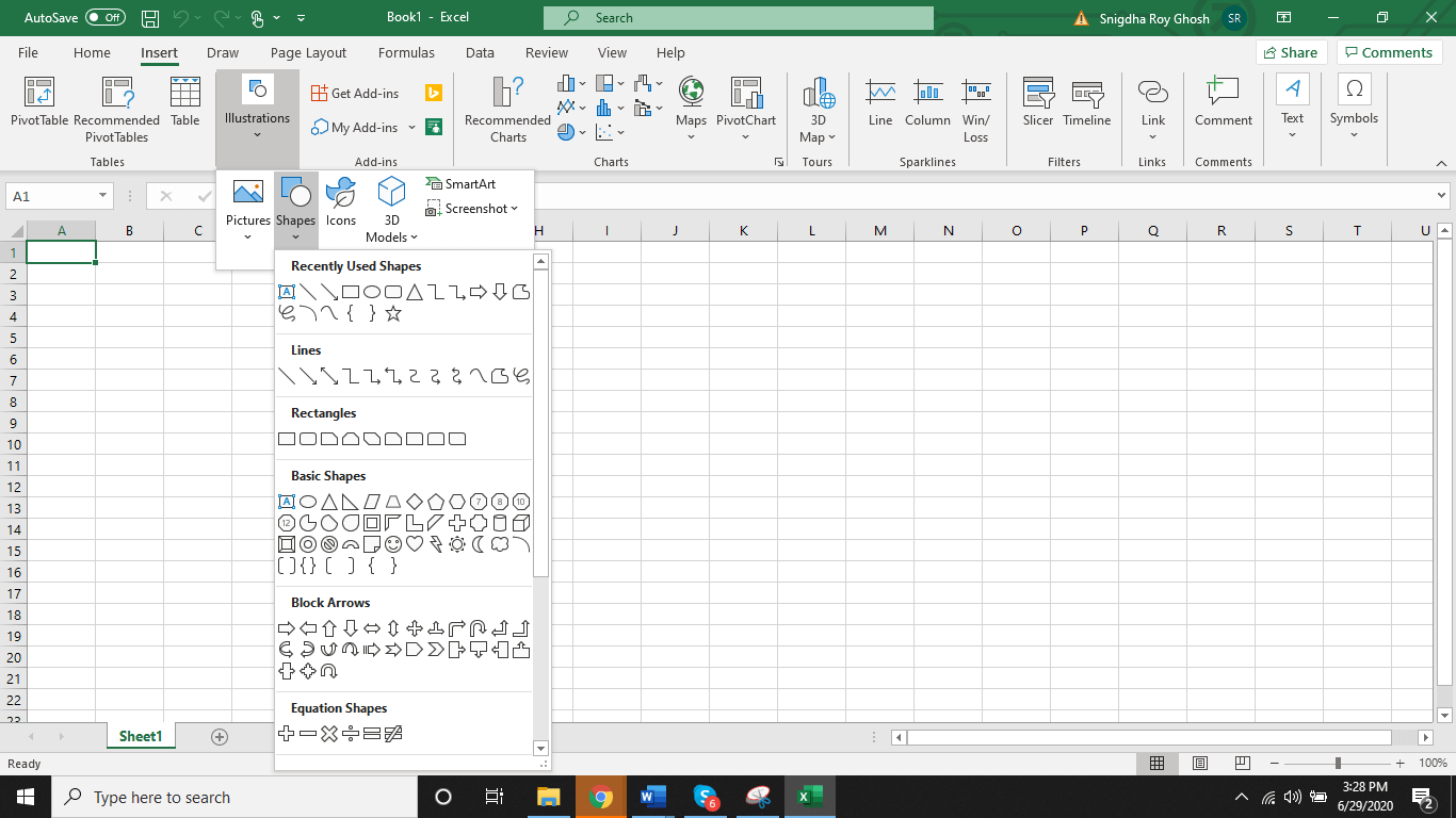 shapes library excel - Appy Pie