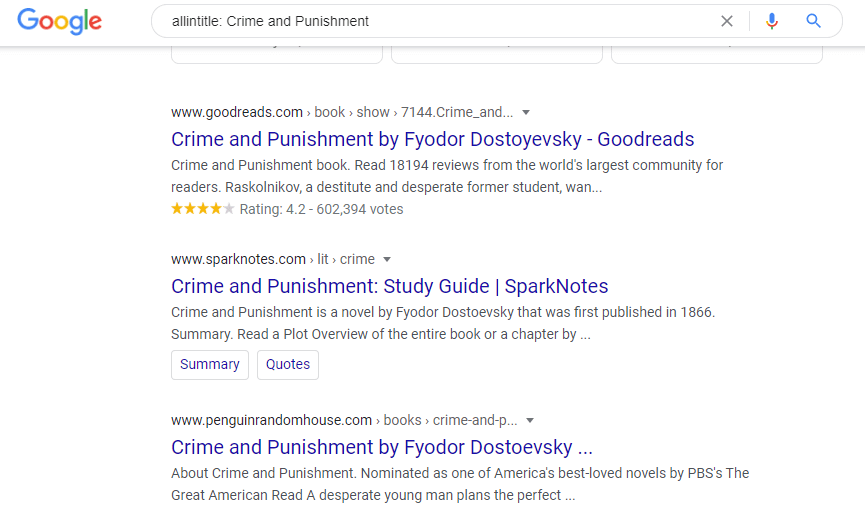Allintitle to narrow your search - Appy Pie