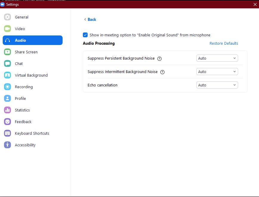 Advanced Audio Settings - Appy Pie