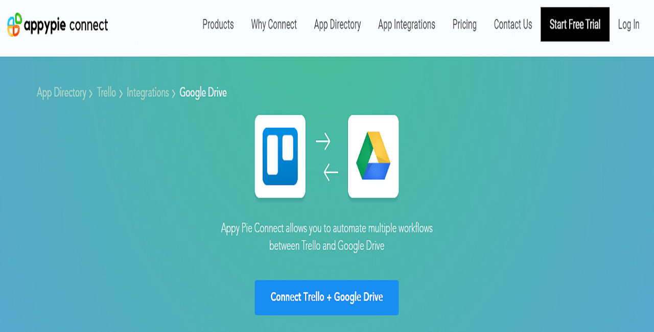 Integrate Google drive with Trello Cards - Appy Pie