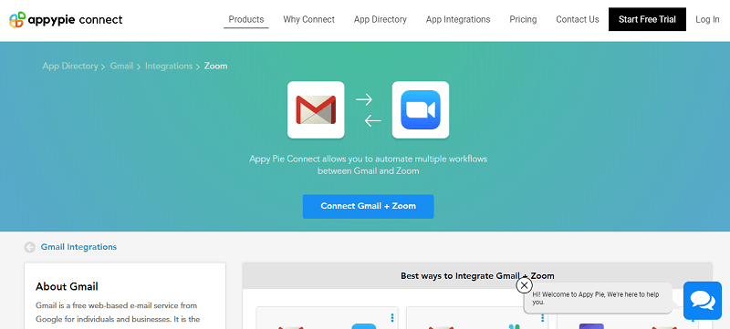 Integrate Zoom with your Gmail account - Appy Pie
