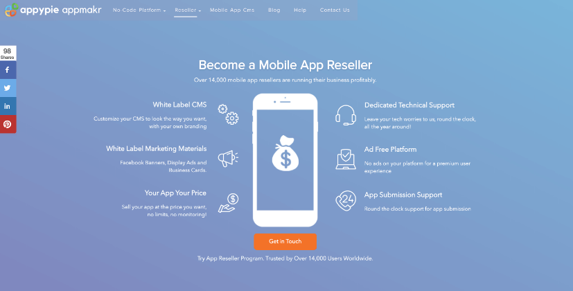 Become App Reseller - Appy Pie