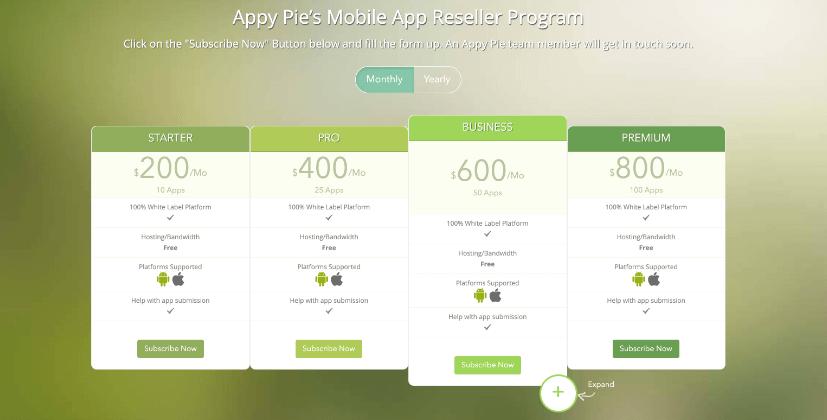 Appy Pie app reseller program - Appy Pie