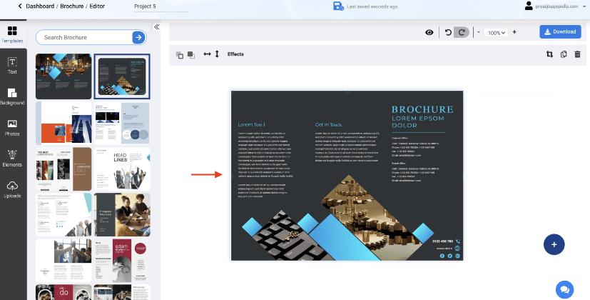 Step3 Brochure template - Appy Pie